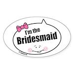 Bridesmaid Oval Sticker (10 pk)