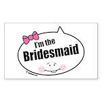 Bridesmaid Rectangle Sticker 50 pk)