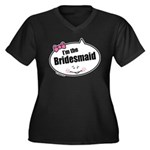 Bridesmaid Women's Plus Size V-Neck Dark T-Shirt