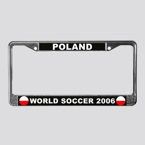 Poland World Cup 2006 Soccer License Plate Frame