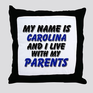my name is carolina and I live with my parents Thr