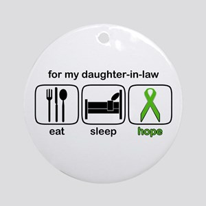 Daughter-in-law ESHope Lymphoma Ornament (Round)