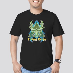 Tribal Delta Men's Fitted T-Shirt (dark)