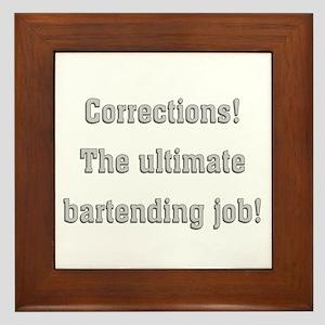 Corrections Framed Tile