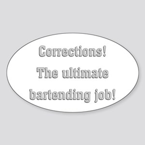 Corrections Oval Sticker