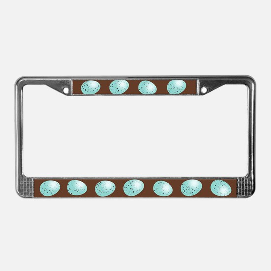 Robin Eggs License Plate Frame