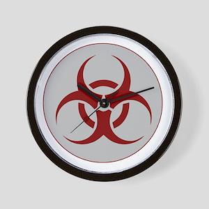 biohazard outbreak logo Wall Clock
