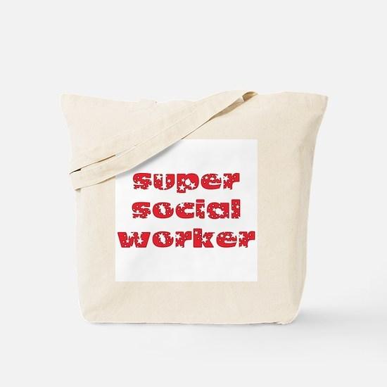 super social worker (Red) Tote Bag