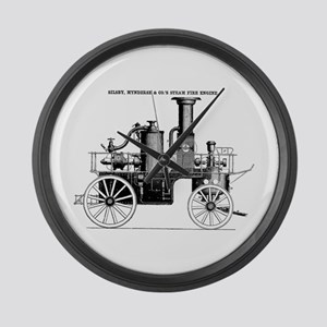 Silsby Fire Engine Large Wall Clock