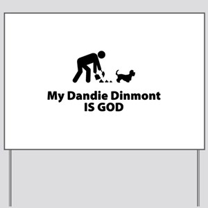 Dandie Dinmont Terrier Yard Sign