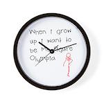 Grow up figure O Wall Clock