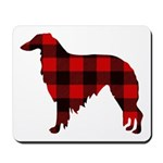 Borzoi Plaid Mousepad