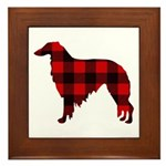 Borzoi Plaid Framed Tile