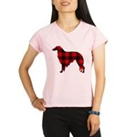 Borzoi Plaid Performance Dry T-Shirt