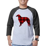 Borzoi Plaid Mens Baseball Tee