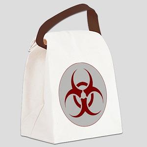 biohazard outbreak logo Canvas Lunch Bag