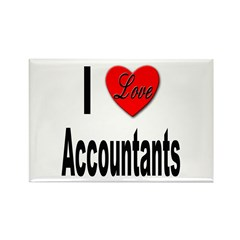 I Love Accountants Rectangle Magnet