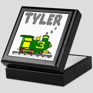 Tyler 3-Green & Yellow Train Keepsake Box