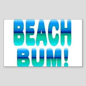 Beach Bum! Rectangle Sticker