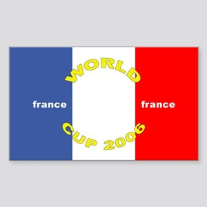 France World Cup Soccer Rectangle Sticker