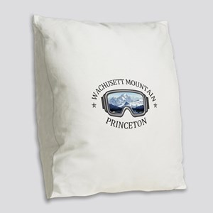 Wachusett Mountain - Princet Burlap Throw Pillow
