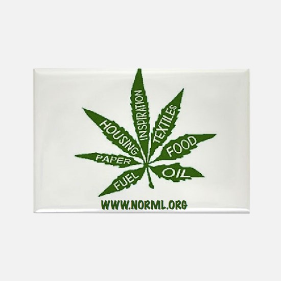 Funny National organization for the reform of marijuana Rectangle Magnet