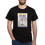 Happy Chanukkah Black T-Shirt