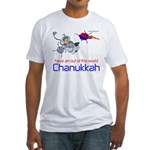 Out of this world Chanukkah Fitted T-Shirt