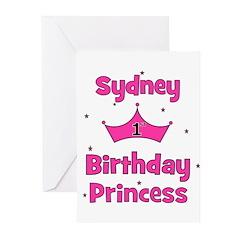1st Birthday Princess Sydney! Greeting Cards (Pk o