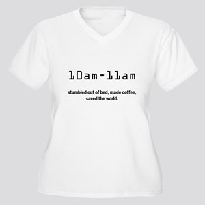 24 Women's Plus Size V-Neck T-Shirt