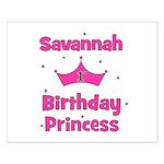 1st Birthday Princess Savanna Small Poster