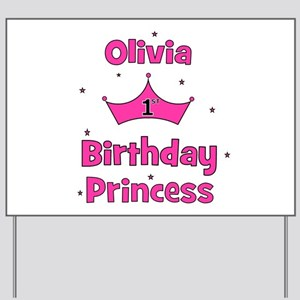 Happy Birthday Olivia Yard Signs Cafepress