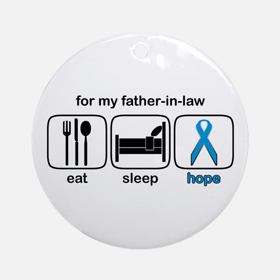 Father-in-law ESHope Prostate Ornament (Round)