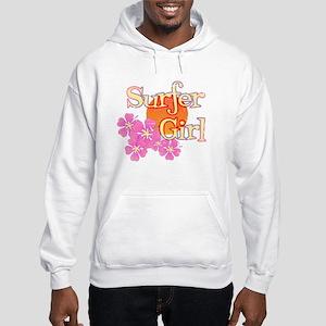 Little Surfer Girl Hooded Sweatshirt