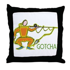 Fencing Fisherman Throw Pillow