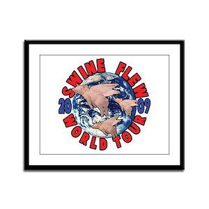 Swine Flew World Tour Framed Panel Print