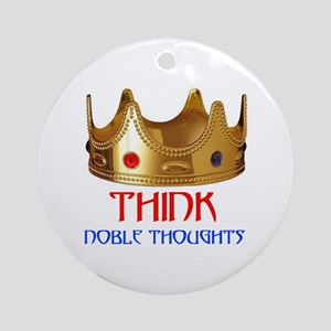 NOBLE THOUGHTS Ornament (Round)