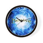 Believe -Vortex Wall Clock