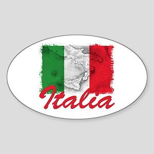 italian pride Oval Sticker