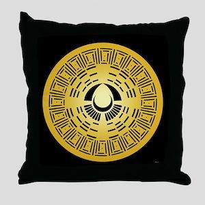 Mayan Calendar Crop Circle Throw Pillow