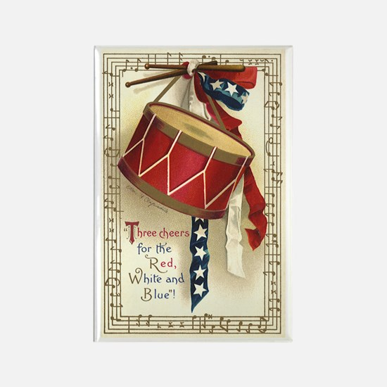 Vintage 4th of July Rectangle Magnet (10 pack)