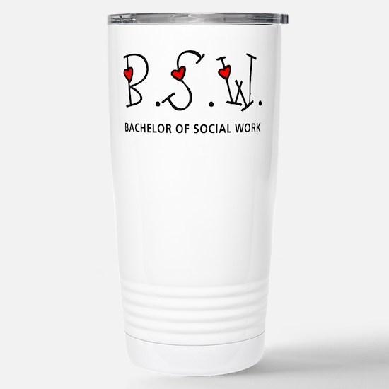 BSW Hearts (Design 2) Stainless Steel Travel Mug