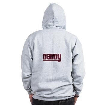 Daddy - Red Zip Hoodie