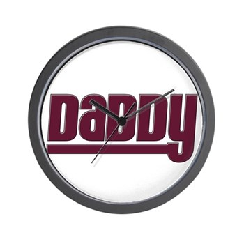 Daddy - Red Wall Clock