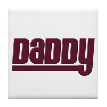 Daddy - Red Tile Coaster