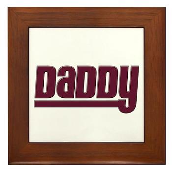 Daddy - Red Framed Tile