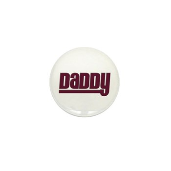 Daddy - Red Mini Button (10 pack)