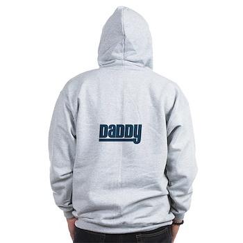 Daddy - Blue Zip Hoodie
