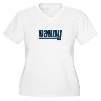 Daddy - Blue Women's Plus Size V-Neck T-Shirt