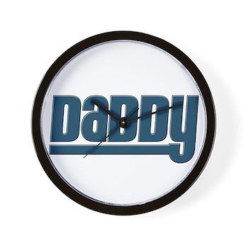 Daddy - Blue Wall Clock